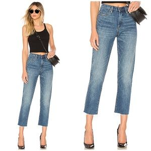 Blank NYC High Rise Crop Jeans with raw hem